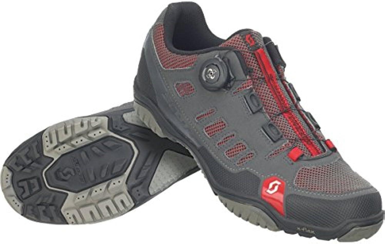 Zapatillas MTB Scott Crus-R Boa Antracita-Rojo Talla 45