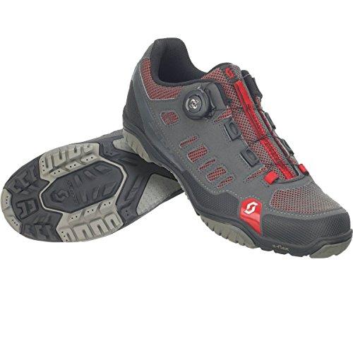 Zapatillas MTB Scott Crus-R Boa Antracita-Rojo Talla