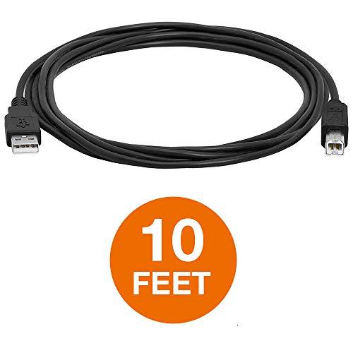 RONSHIN Druckerkabel USB 2.0 A an B A-Stecker an B-Stecker für HP Cannon Epson Dell Brother 10FT (Hp Drucker-scanner-kabel)