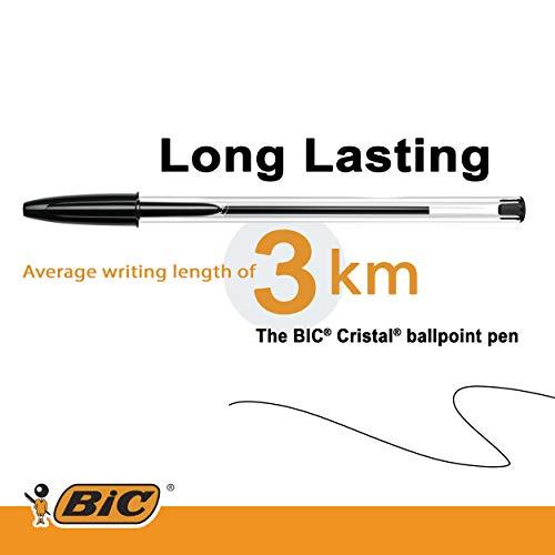 Bic Cristal Original Punta Media 1 mm Confezione 50 Penne Colore Nero - 4