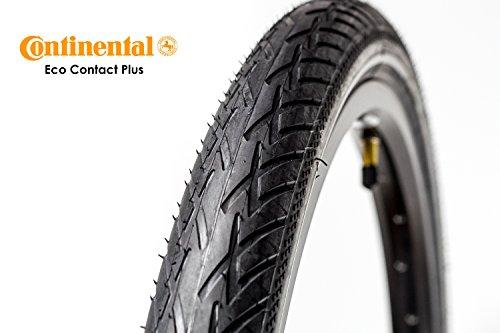 "26\"" Zoll Continental Eco Contact Plus Fahrrad Reifen 47-559 Mantel Decke 26x1,75 Reflex Streifen tire schwarz City Trekking Bike"