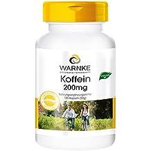 Cafeína 200mg – 120 cápsulas – vegano – Warnke Vitalstoffe