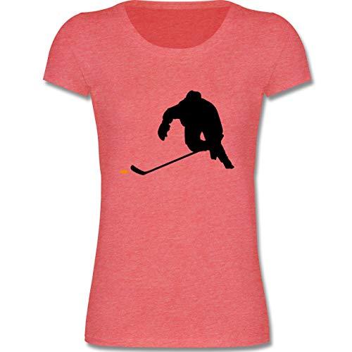 Sport Kind - Eishockey Sprint - 110-116 (5-6 Jahre) - Rot meliert - F288K - Mädchen T-Shirt -
