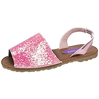 Lora Dora Girls Fancy Menorcan Spanish Sandals Light Pink 1