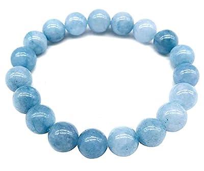 Bracelet Aigue-marine, protection, pierre du voyageur
