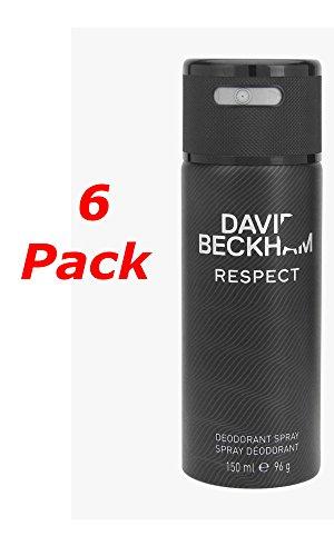 David Beckham Respect Deo Spray 150ml. Pack von 6 -