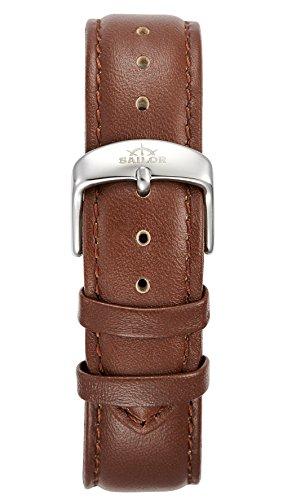 Sailor Damen Herren Leder Armband Basic Brown braun BSL101-2021-20, Breite Armband:20mm (normal), Fa