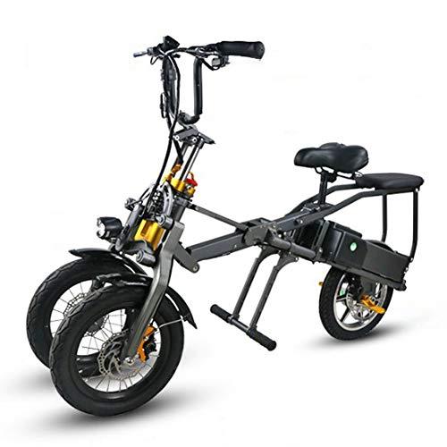 ACC Bicicletta elettrica Pieghevole - Batteria Portatile a Carica Rapida a ioni di Litio e Motore Silenzioso con Display LCD Speed. Facile da riporre in roulotte, Case Auto, Barche.