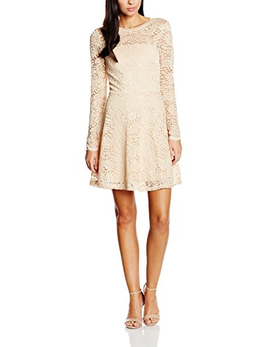 Vero Moda Vmceleb Ls Lace Short Dress Noos, Vestito Donna Rosa (Ivory Cream)