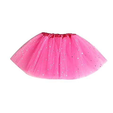 Bekleidung Longra Baby Kinder Mädchen Prinzessin Sterne Pailletten Party tanzen Ballett Tutu Röcke Mädchen Kleider (2-7 Jahre) (free size (2-7 Jahre),