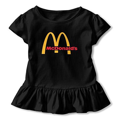 Sommer T-Shirt McDonalds Logo T Shirt Casual Shirts Für Kleinkind Mädchen Kurzhülse Kleidung Schwarz 2 T ()