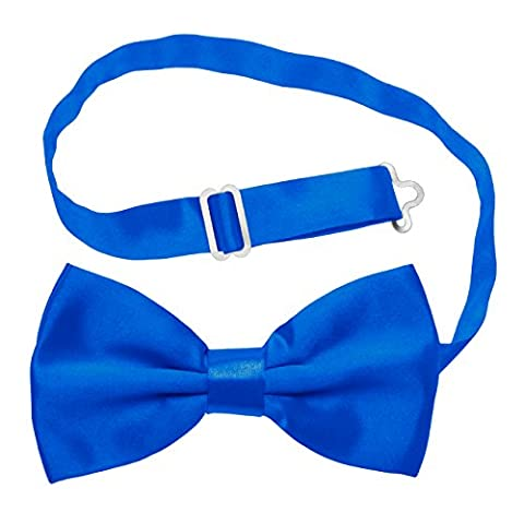Knight - Premium Bow-Tie, Adjustable Pre-tied Bow Tie - Various Colours Available (Royal Blue)