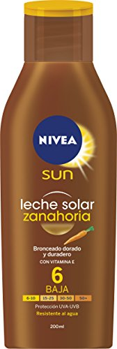 Nivea Sun - Leche solar zanahoria FP6 - Protección UV baja - 200 ml