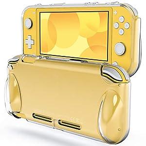 JETech Hülle für Nintendo Switch Lite 2019, rutschfeste Silikonhülle Schutzhülle mit Federung und Anti-kratzt (HD Klar)