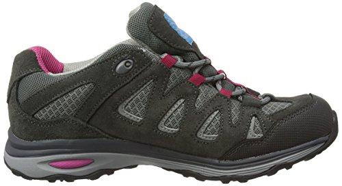 Karrimor Isla Weathertite, Chaussures de Randonnée Basses femme Noir (Black C/Pink)