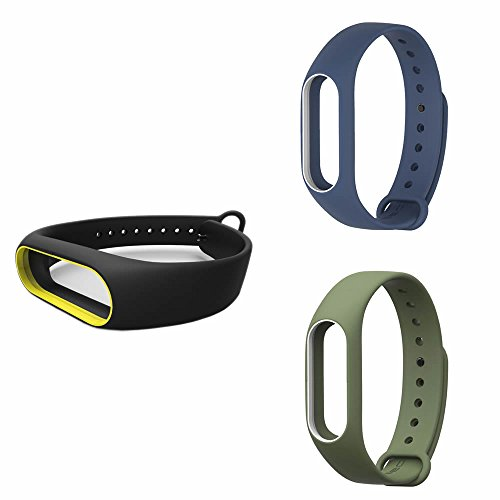 Pinhen Ersatzband für Xiaomi Mi Band 2 Sport-Armband