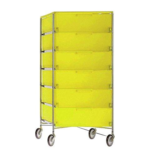 Kartell Mobil Container, Plastik, gelb, 47.5 x 109 x 49 cm
