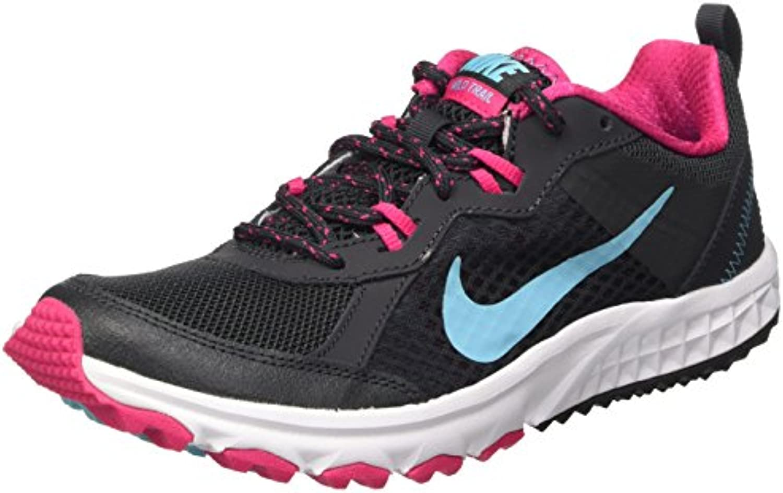 Nike Wmns Wild Trail - Calzado Deportivo para mujer, anthracite/polarized blue-vivid pink-white, talla 36.5
