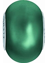 Grand Trou Perles de Crystal de Swarovski Elements 'Crystal BeCharmed' 14mm (Crystal Tahitian Look, Acier affiné), 12 Pièces