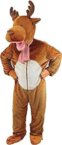 Adult Christmas Reindeer Moose Big Head Fancy Dress Costume Complete Outfit Uk