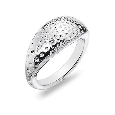 Hot Diamonds Just Add Love Trinket Hammered Ring
