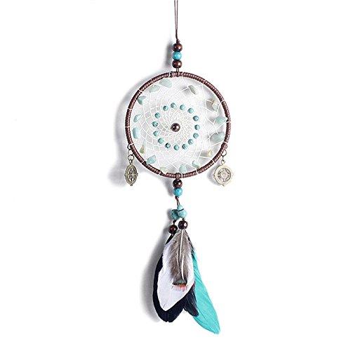 chiccharming Traumfänger mit Federn Wand hängende Dekoration handgefertigt Home Ornament Craft (Craft Ornament Perlen)