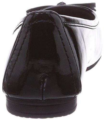 Softline 22163, Ballerines fermées femme Noir - Schwarz (Black / Patent 18)