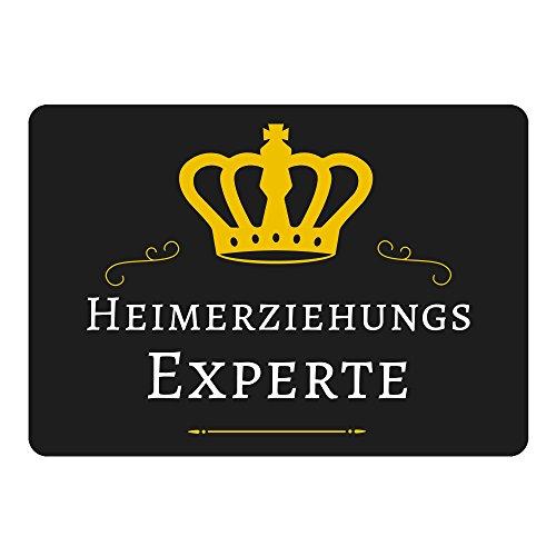 Mousepad Heimerziehungs Experte schwarz