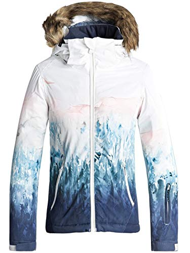 Roxy Mädchen Jet Ski SE Snow Jacket, Bright White-Snowyvale, 14/XL