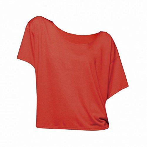 T-shirt à manches courtes Bella Flowy pour femme Rouge