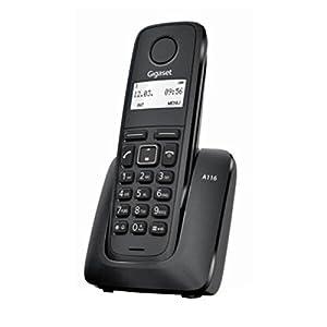 telefonos: Teléfono inalámbrico Gigaset, Agenda hasta 50 contactos (Nombre y número), ident...