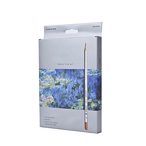 Yiyu Glatte Aquarell Bleistifte Set von 36 farbigen Marco Fine Art wasserlöslich für Künstler Anfänge