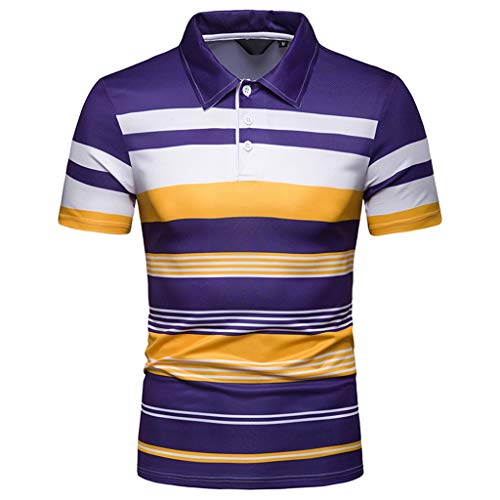 Luckycat Herren Poloshirt Kurzarm Patchwork Sommer T-Shirt Men's Polo Shirt Baumwolle Herren Kurzarm Basic Kontrast Polo-Shirt Poloshirts Herren Kurzarm Kontrast Polohemd Polo Shirts Regular Fit