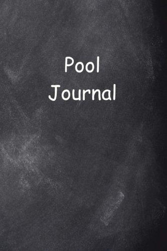 Pool Journal Chalkboard Design di Distinctive Journals