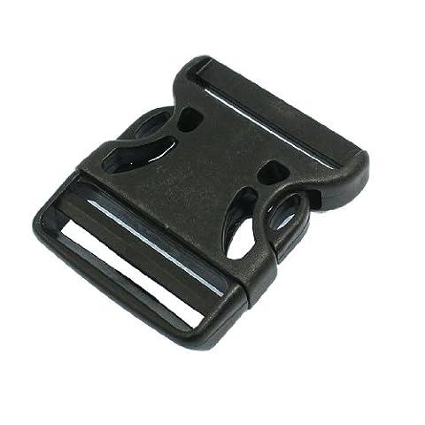 2 pièces de rechange en plastique Noir pour Sac à dos côté boucle à libération rapide