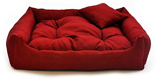 Gorgeous Quilted Reversible HQ Ultra soft Dual Sofa-Style Dog Bed with one extra Pillow -Large
