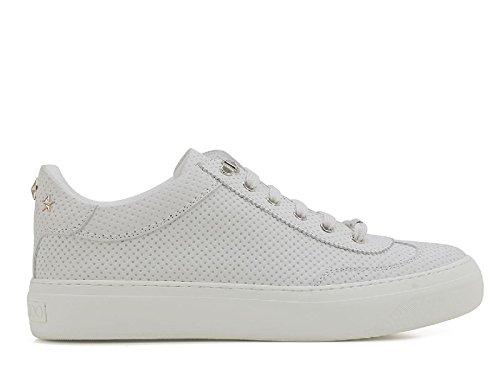 JIMMY CHOO Sneakers da Uomo in Pelle nabuk Bianco - Codice Modello: Ace Put 163 White Bianco