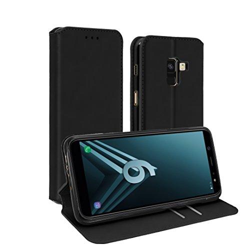 AURSTORE Coque Samsung a6 Plus 2018, Housse a6+, Pochette Housse Etui Porte Carte pour Samsung a6 Plus, Plusieur Couleur Disponible (Noir)