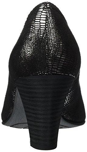Jana 22406, Chaussures Femme À Talon Noir (noir Met Stru 097)