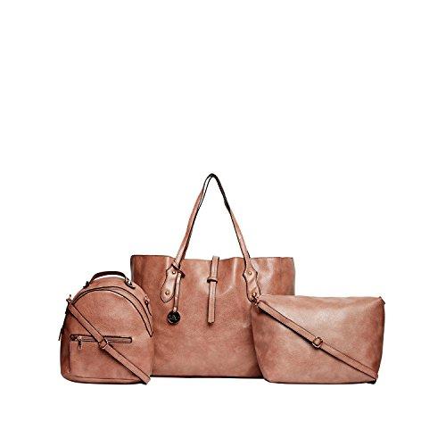 Diana Korr Women\'s Handbag with Sling (Brown) (Set of 3) (DK126CBRW)