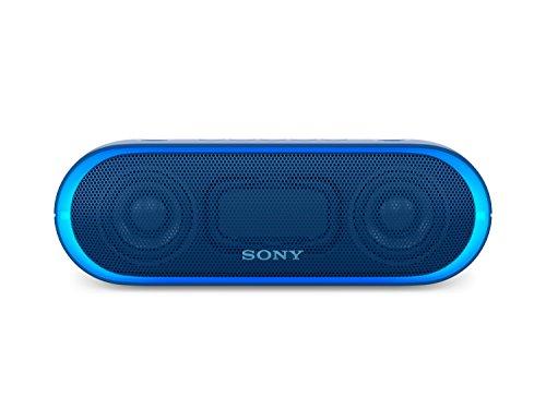 Sony SRS-XB20L - Altavoz inalámbrico portátil (Bluetooth, NFC, Extra Bass, 12h de batería, Wireless Party Chain, luz lineal) color azul