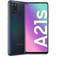 "Samsung Galaxy A21s, Smartphone, Display 6.5"" HD+, 4 Fotocamere Posteriori, 32 GB Espandibili, RAM 3 GB, Batteria 5000 mAh, 4G, Dual Sim, Android 10, 192 g, [Versione Italiana], Black"