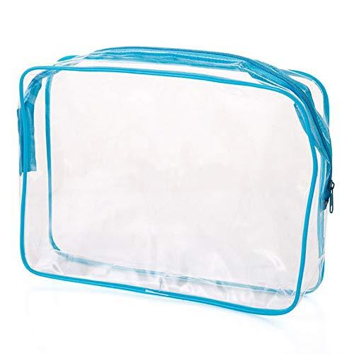 Sweetlover Borsa da toeletta Trasparente Impermeabile Trasparenti Portable Travel Bag Cosmetici Carry-in PVC Bag Sacchetto di Lavaggio Porta Sacchetti