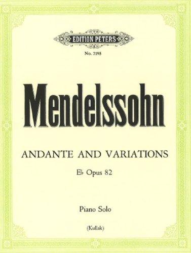 Andante et Variations Op.82 Mib (Kullak)...