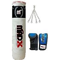 madx Lot de 4m de boxe rempli lourd sac de frappe Gants, chaîne, kickbag