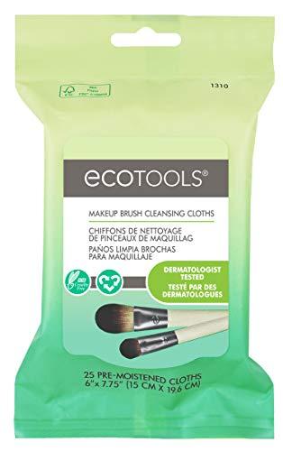 Ecotools Brosse de Maquillage Lingettes nettoyantes