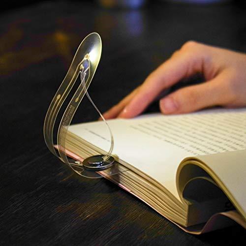 Omiky® Lesezeichen Lichter, 2 STÜCKE Kreative Mini Tragbare Lesezeichen Lichter LED Tragbare Bücher Auge Leselicht (Weiß)