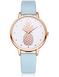 Darringls_Reloj FD123 FanTeeDa,Reloj de Madera para Mujer Cuarzo Japonés y con la Correa de