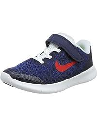Nike Free Rn 2017 (Psv) Scarpe da Running, Grigio (Obsidian/University Red/Racer 405), 28.5 EU (11 Bambini UK)
