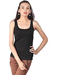 Remanika Black color Knitted Tank Top for womens
